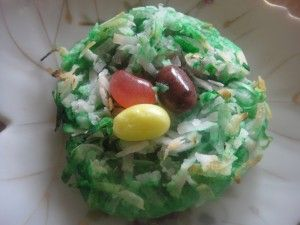 jelly belly easter egg nest cookies