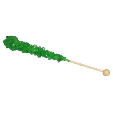 Dark Green Rock Candy Sticks ~ 12 Count