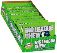 Big League Chew Sour Apple ~ 12 - 2.12oz Pouches