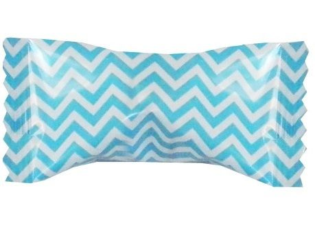 Caribbean Blue Chevron Buttermints ~ 50 Count Bag