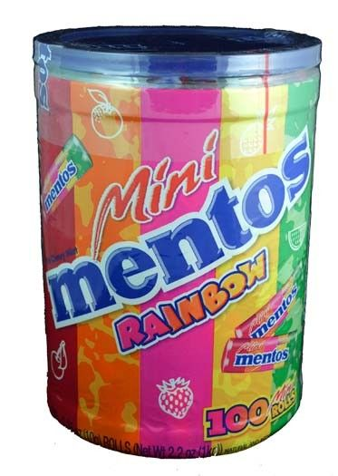Mentos Mini Rainbow Candy Rolls ~ 100 Count