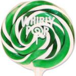 Green and White Whirly Pop  ~ 60 count