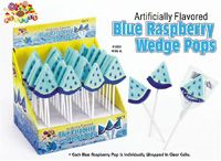 Blue Raspberry Wedge Lollipops ~ 36 Count