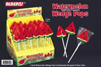 Watermelon Wedge Lollipops ~ 36 Count