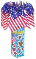 Candy Filled American Flags ~ 18 Pieces