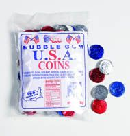USA Bubble Gum Coins ~ 100pcs.