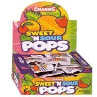 Charms Sweet 'n Sour Pops 12 ~ 48 Count Boxes