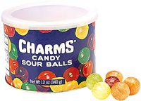 Charms Assorted Sour Balls ~ 12 Tins