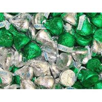 Hershey Green & Silver Kisses ~ 4.3lb Bag