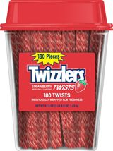Twizzlers ~ 4/180ct. Canisters