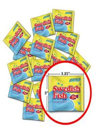 Swedish Red Fish Treat Packs ~ 120pcs.
