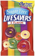 Lifesavers 5 Flavor Sugar Free - 12 ~ 2.75oz Bags
