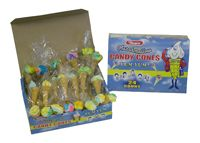 Marshmallow Candy Cones ~ 1/24ct. Box