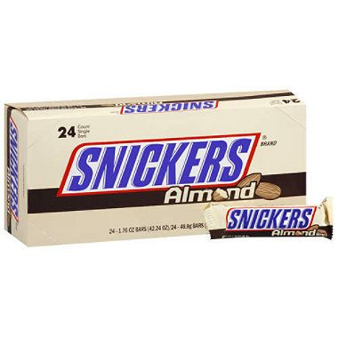 Snickers Almond Candy Bar - 24ct.