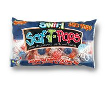 Swirl Saf-T-Pops 120ct. Bag