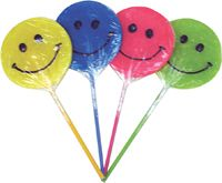 Happy Face Lollipops ~ 24 Count
