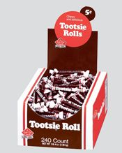 Bulk Tootsie Roll Long Chocolate Rolls 8~240ct. Boxes