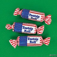 Bulk Tootsie Roll Flag Chocolate Midgees 30lbs.