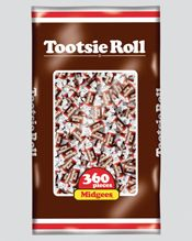 Bulk Tootsie Roll Tiny Chocolate 12 ~ 360 Ct. Bags