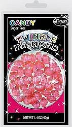 Sugar Free Pink Twinkle Diamond Candy Gems ~ 40 Pieces