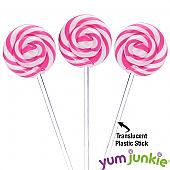 Swipple Pops Petite Swirly Ripple Lollipops - Pink Strawberry: 48-Piece Box