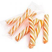 Orange and White Petite Candy Sticklettes ~ 250 Count