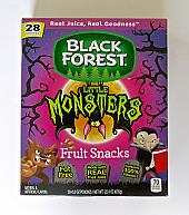 Black Forest Little Monster Fruit Snack Pouches - 28 Count
