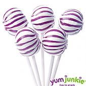 Purple Sassy Suckers Lollipops ~ 100 Count