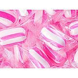 Strawberry Sassy Pink Striped Cylinders ~ 5lbs