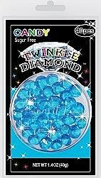 Sugar Free Blue Twinkle Diamond Candy Gems ~ 40 Pieces