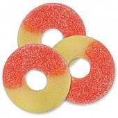 Albanese Peach Gummi Rings ~ 4.5lb Bag