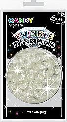 Sugar Free Clear Twinkle Diamond Candy Gems ~ 40 Pieces