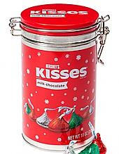 Holiday Hershey Kisses Cannister