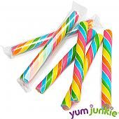 Sweet Spindles Mini Hard Candy Sticks - Rainbow: 50-Piece Jar