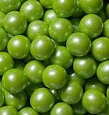 1/2 inch Shimmer Lime Green Gumballs - 2lbs