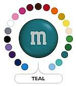 Teal Green M&M's ~ 5lbs