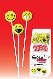 Twinkle Smiley Face Gosh Pops - 24 Pc Display