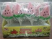 Strawberry Wedge Lollipops ~ 36 Count