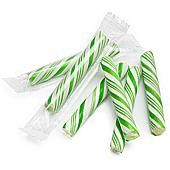 Green and White Petite Candy Sticklettes ~ 250 Count