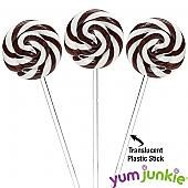 Swipple Pops Black Petite Swirly Ripple Lollipops - Black Cherry: 48-Piece Box