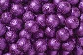 Purple Foil Chocolate Balls