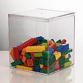 "Clear Plastic Square Container 4-7/8"" x 4-7/8"" x 5-1/2"""