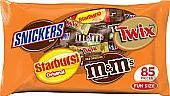 Assorted Mars Fun Size Mix ~ 85 Pieces