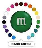 Dark Green M&M's ~ 5lbs
