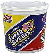 Original Super Bubble Bubble Gum - 300 Piece Tub