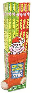 Face Twisters Big Stick Gum ~ 40 Count