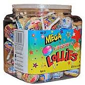 CeDe Mega Smartie Lollipops ~ 60 Count Tub