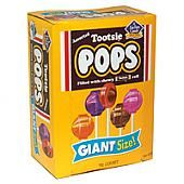 Giant Tootsie Roll Pops ~ 72 Count Box