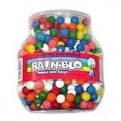 "Rainblo Bubble 1/2"" Gum Balls, Unwrapped 53oz Tub"