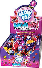 Charms Bursting Berry Blowpops ~ 48 Count.
